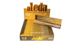 Seda aLeda Ouro (Brown) king size slim Unbleached paper CX C/20