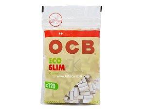 Filtro Para Cigarro OCB Biodegradáveis 6mm C/120
