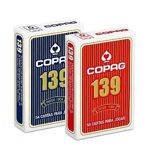 Baralho Copag 139 Vermelho ou Azul Naipe Convencional