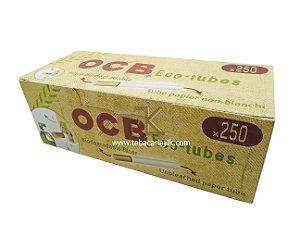 Tubos de Cigarro OCB Com filtro Ecológico C/ 250 Unidades