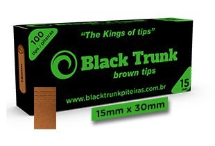 Piteira Black Trunk Brown Tips Small 15mm C/100