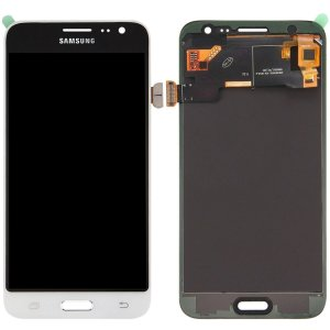 Tela Touch Display LCD Modulo Frontal Sem Aro Samsung Galaxy J3 4G Duos J320 Branco Original