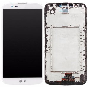 Tela Touch Display LCD Modulo Frontal Com Aro LG K10 *Sem CI K430 Branco