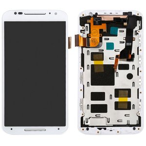 Tela Touch Display LCD Modulo Frontal Com Aro Motorola Moto X2 X 2 XT1097 XT1098 Branco