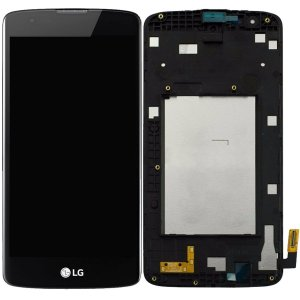 Tela Touch Display LCD Modulo Frontal Com Aro LG K8 4G Dual K350 K350ds Preto