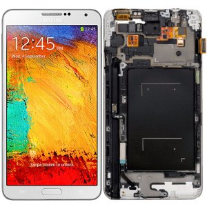 Tela Touch Display LCD Modulo Frontal Com Aro Samsung Galaxy Note 3 N9005 Sm-n9005 Branco