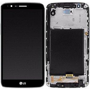 Tela Touch Display Lcd Modulo Frontal Com Aro Lg K10 Pro M400df M400 Preto