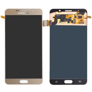 Tela Touch Display Lcd Modulo Frontal Sem Aro Galaxy Note 5 Sm-n920g N920 Dourado