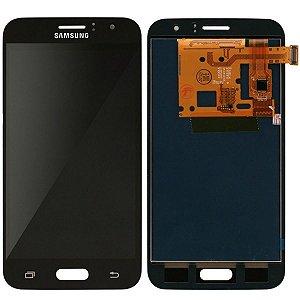 Tela Touch Display LCD Modulo Frontal Sem Aro Samsung Galaxy J1 2016 Duos J120 Preto Paralelo