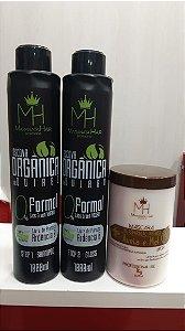 Kit Escova Organica 0% de formol  + Máscara aveia e mel 1k