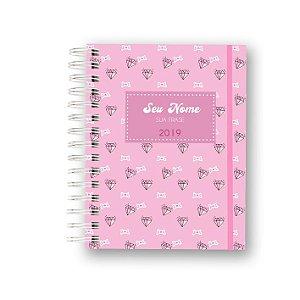 Meu Planner 2019 Diamantes Pink