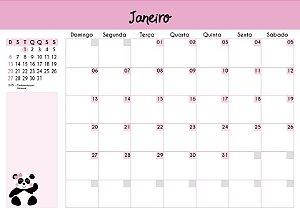 Calendário de Planejamento 2019 - Pandinha