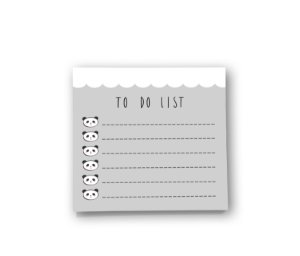 Bloco de Notas Pandinhas - To Do List