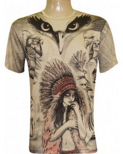 Camiseta Índia  E Águia (ind)