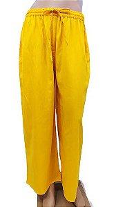Calça Viscose Amarela U