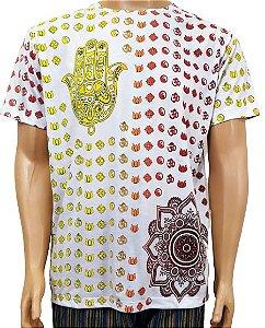 Camiseta Indiana Branca Estampada G
