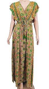 Vestido Longo Seda Estampado