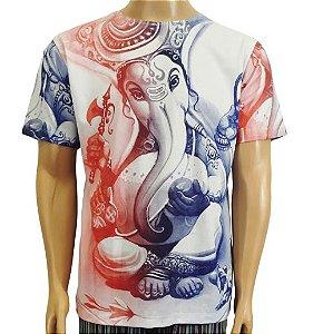 Camiseta Branca Estampa Ganesha M