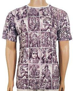 Camiseta Estampada Deuses Hindu