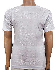 Camiseta Branca Estampada M