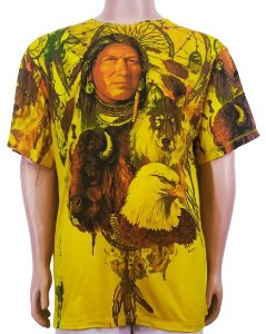 Camiseta Xamãnica Estampada