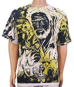 Camiseta Estampada Preto Velho