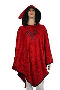 Poncho Manta Vermelha Tridentes U