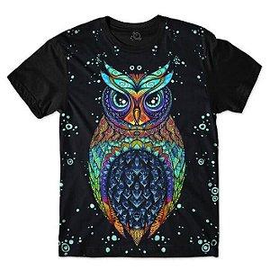 Camiseta Coruja Owl Tribal