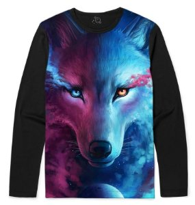 CAMISETA MANGA LONGA LIGHT AND DARKNESS WOLF