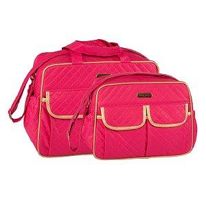 Conjunto Bolsa Maternidade Pink Dourado Dijon Lilian Baby