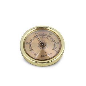 Higrômetro Analógico Meglio (45mm) - Dourado Mod. 01
