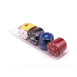 Kit com 48 Fichas de Poker Numeradas (Plástico)