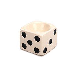 Cinzeiro para Cigarro de Cerâmica - Dado Branco