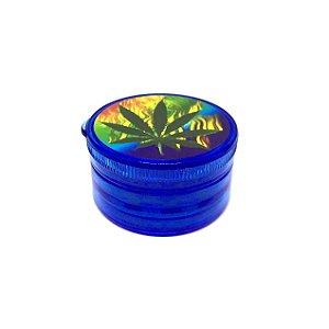 Dichavador De Plástico - Folha Azul 01