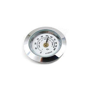 Higrômetro Analógico Meglio (27mm) - Prata