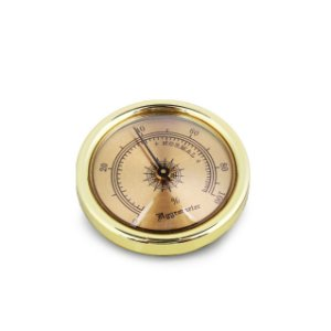 Higrômetro Analógico Meglio (45mm) - Dourado Mod. 02