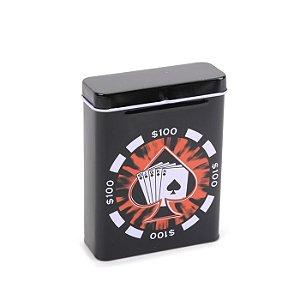 Cigarreira de Metal - Royal Flush