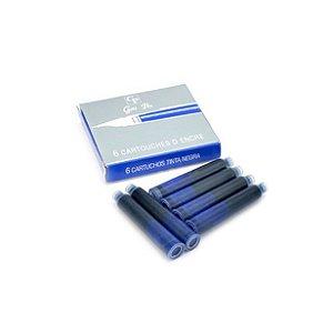 Cartucho Gold Pen Tinteiro C/6 - Azul