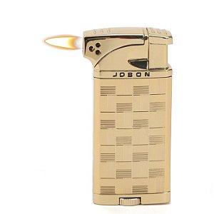 Isqueiro Jobon - Dourado Mod. 1 (Maçarico e Chama Normal)
