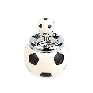 Cinzeiro de Cerâmica para Cigarro - Bola de Futebol Branca