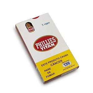 Charuto Phillies Titan Natural - Petaca com 5