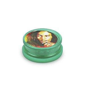 Dichavador de Plástico King Bob Marley - Médio (Sortido)