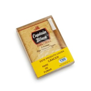 Cigarrilha Captain Black Dark Crema - Pt (8)