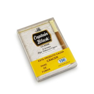 Cigarrilha Captain Black Classic - Pt (8)