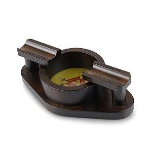 Cinzeiro para 2 Charutos de Madeira Maciça - Montecristo