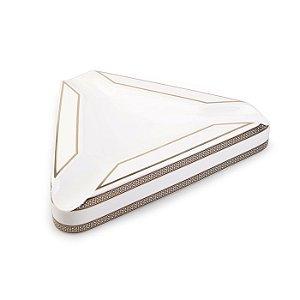 Cinzeiro de Ceramica para 3 Charutos Motier - Branco