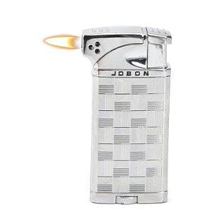 Isqueiro Jobon - Prata Mod. 1 (Maçarico e Chama Normal)