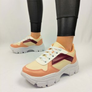 Tênis Chunky Sneaker Energy Candy Marsala