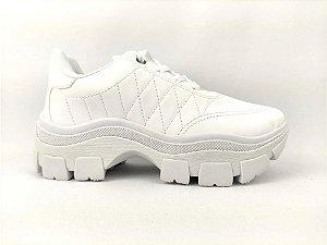 Tênis Chunky Sneaker Branco Clássico Matelassê