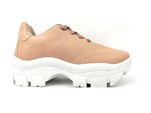 Tênis Chunky Sneaker Rosê Clássico Matelassê